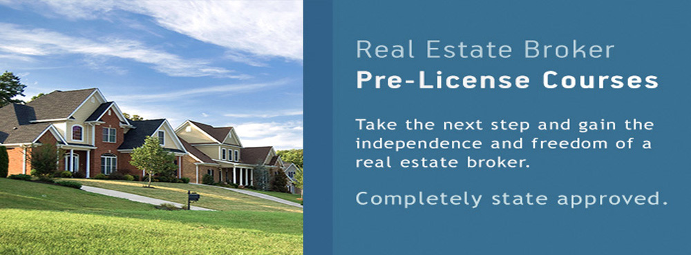 Online Real Estate Broker Pre License Courses